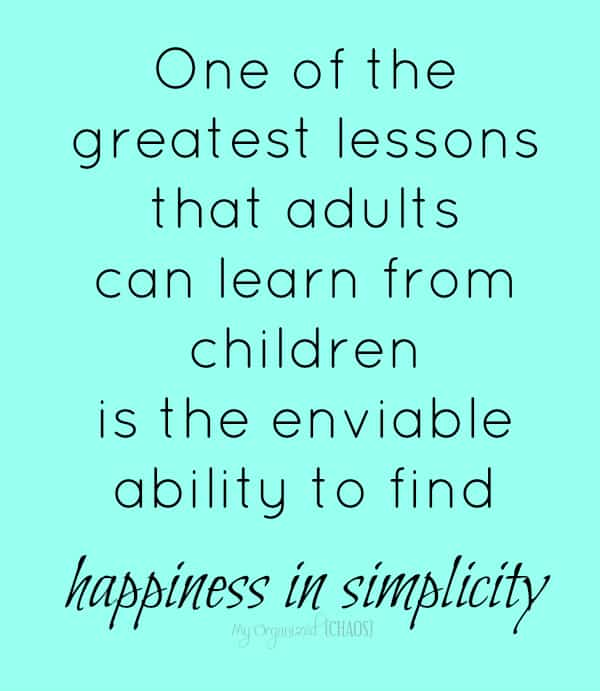 happiness in simplicity