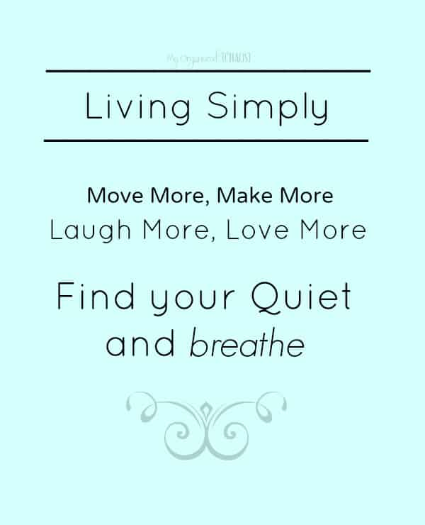 living simply happiness