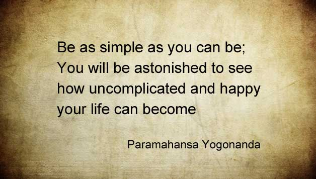simplify life for happiness