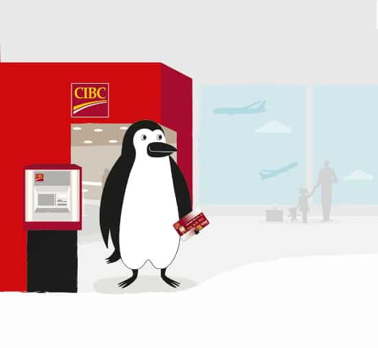 CIBC - (postcard) Percy at ATM