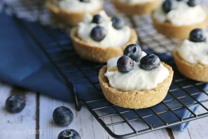 blueberry salted caramel tart