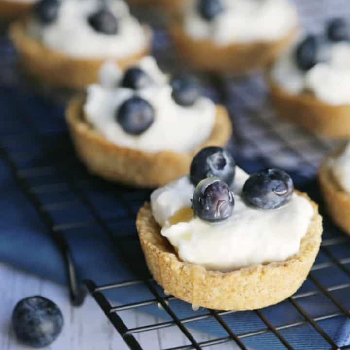 blueberry salted caramel tarts