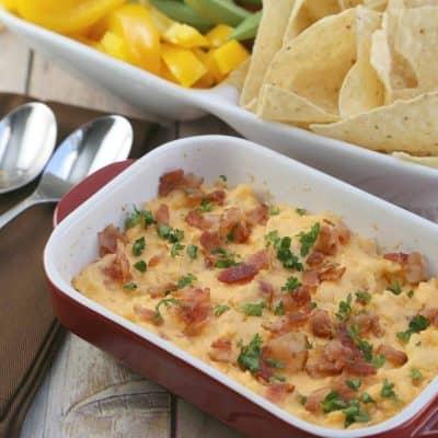 creamy cheddar bacon dip appetizer recipe