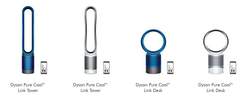 dyson pure cool model options tower desk