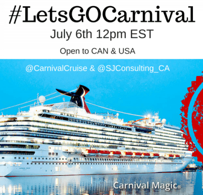 We're Boarding the Carnival Magic + #LetsGOCarnival Twitter Chat