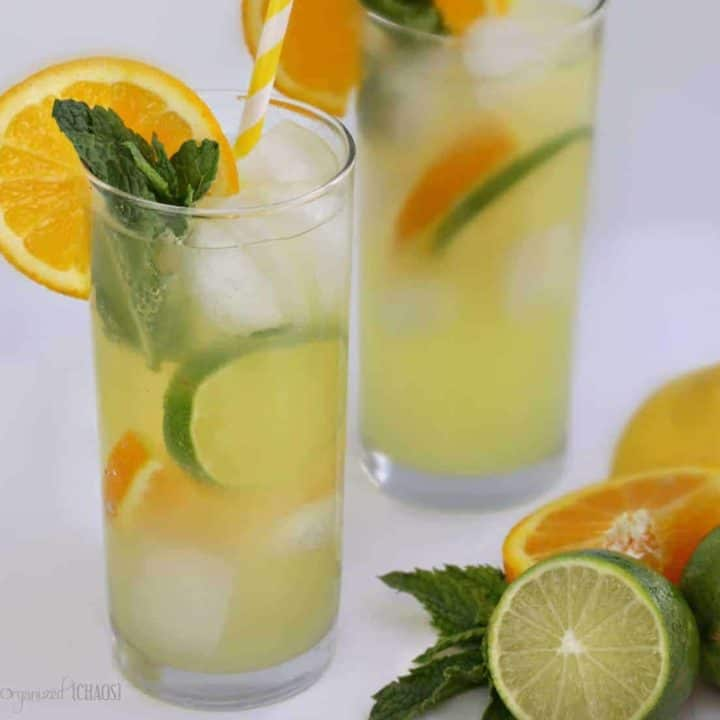 Bubbly Triple-Citrus Iced Tea drink recipe