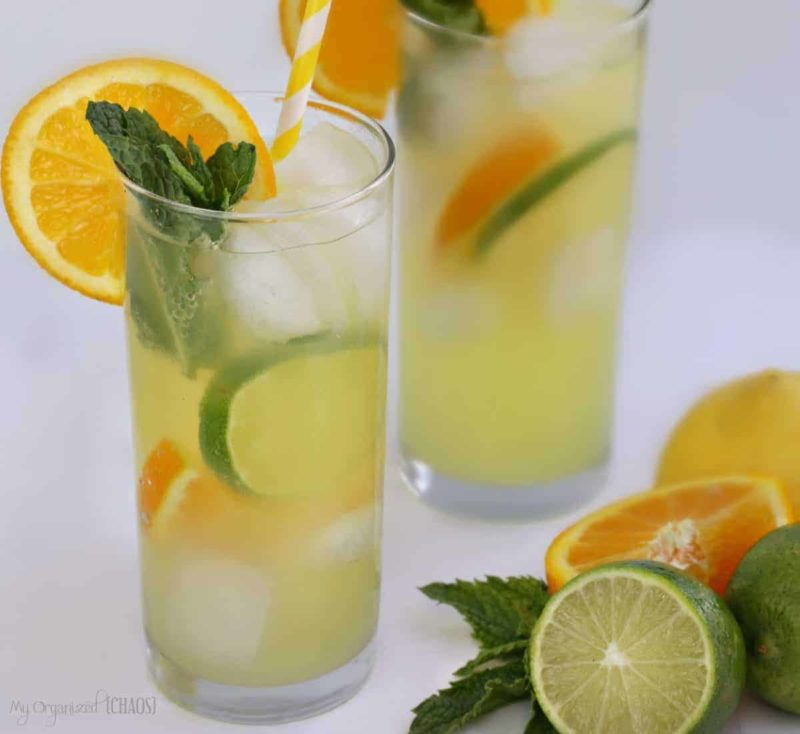 Bubbly Triple-Citrus Iced Tea drink recipe