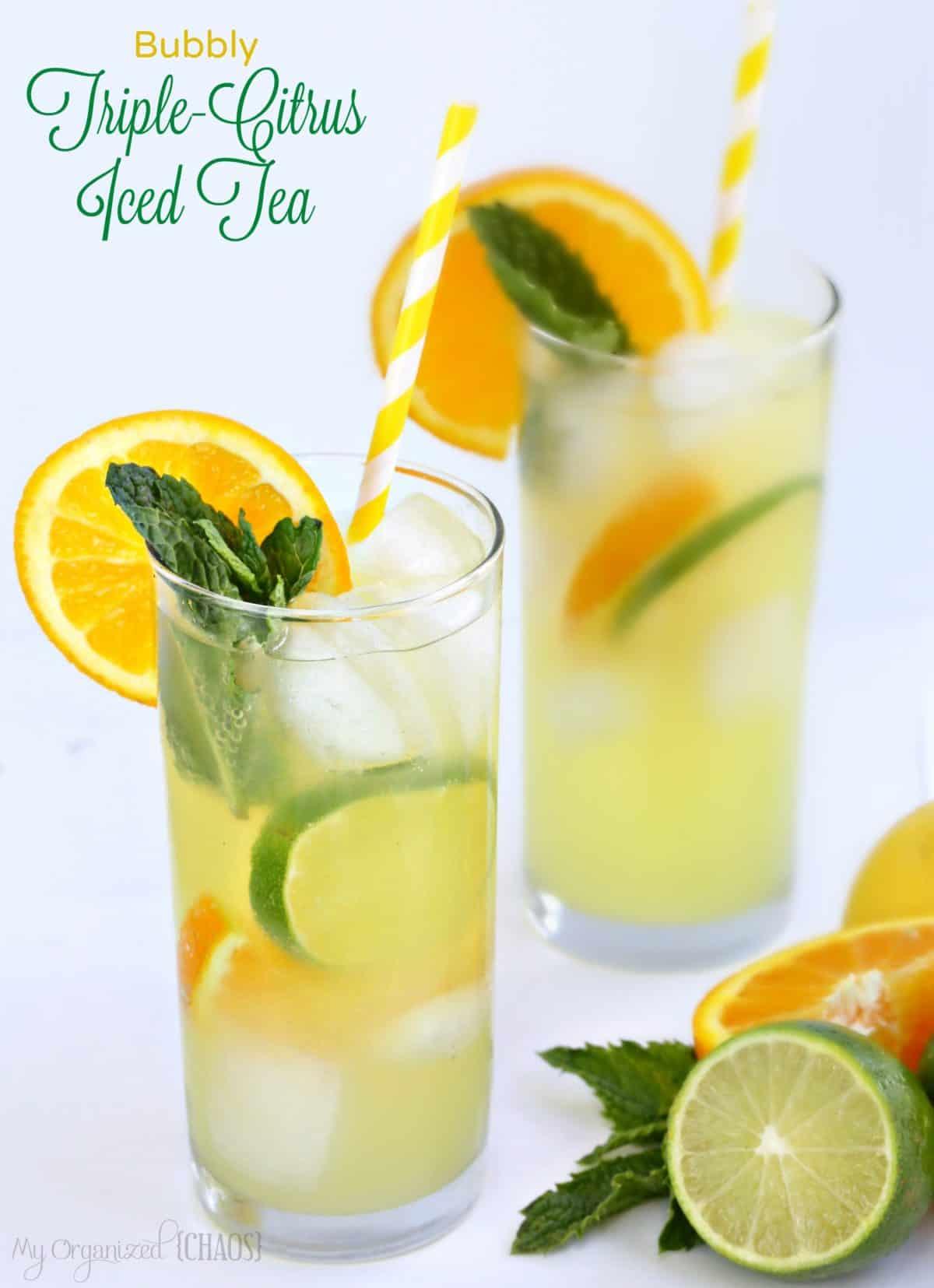 Bubbly Triple-Citrus Iced Tea
