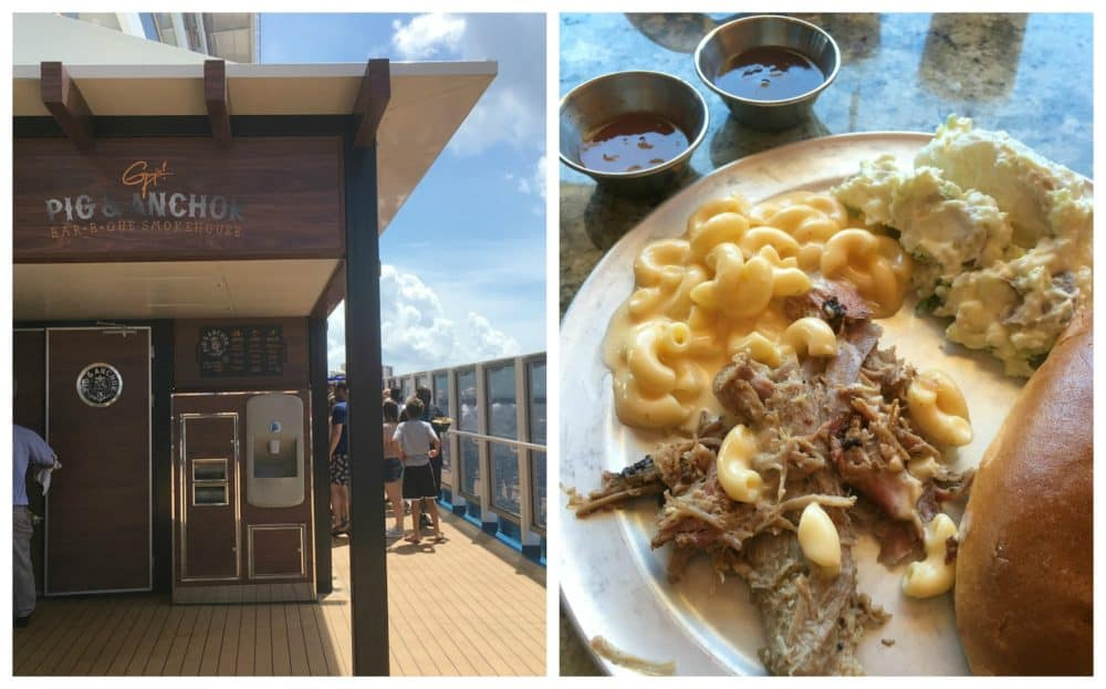 Guy's Pig & Anchor Bar-B-Que Smokehouse carnival magic cruise review