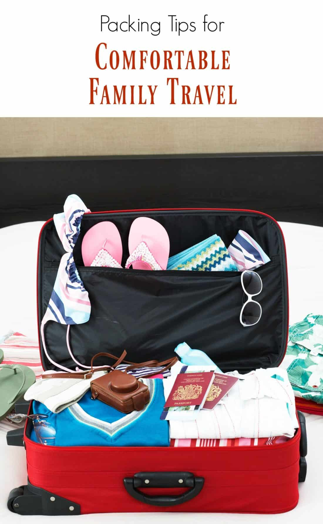 Packing tips for comfortable family travel
