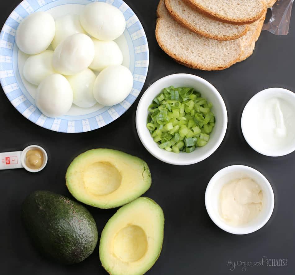 avocado egg salad sandwiches recipe eggsforlife
