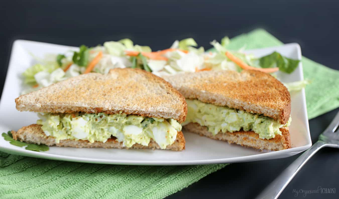 avocado egg salad sandwiches eggsforlife