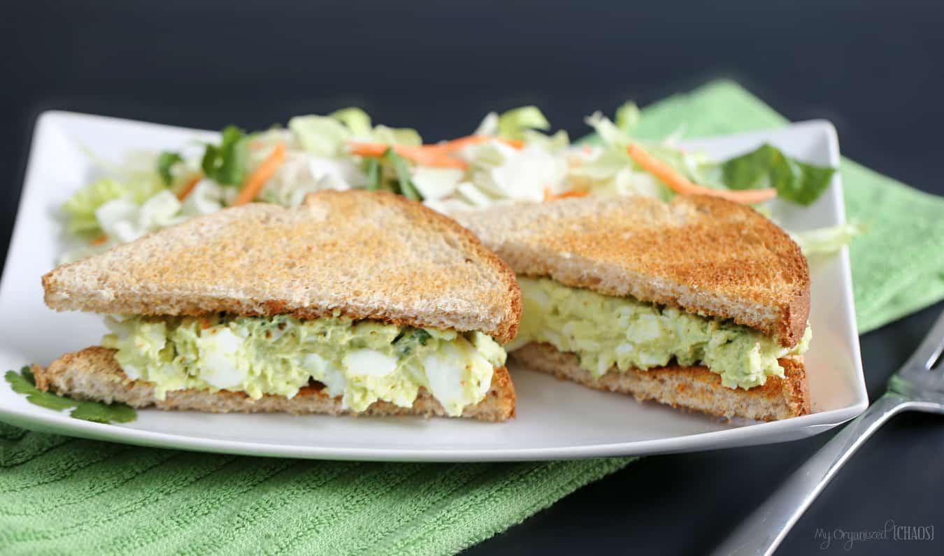 avocado egg salad sandwiches eggsforlife