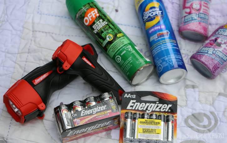 backyard campout essentials