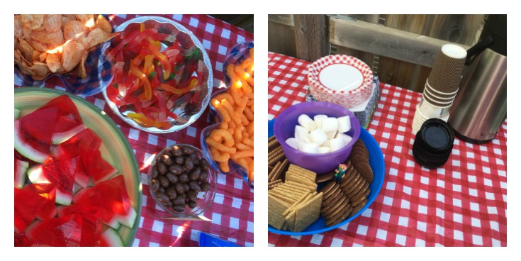 backyard campout tips food snacks drink