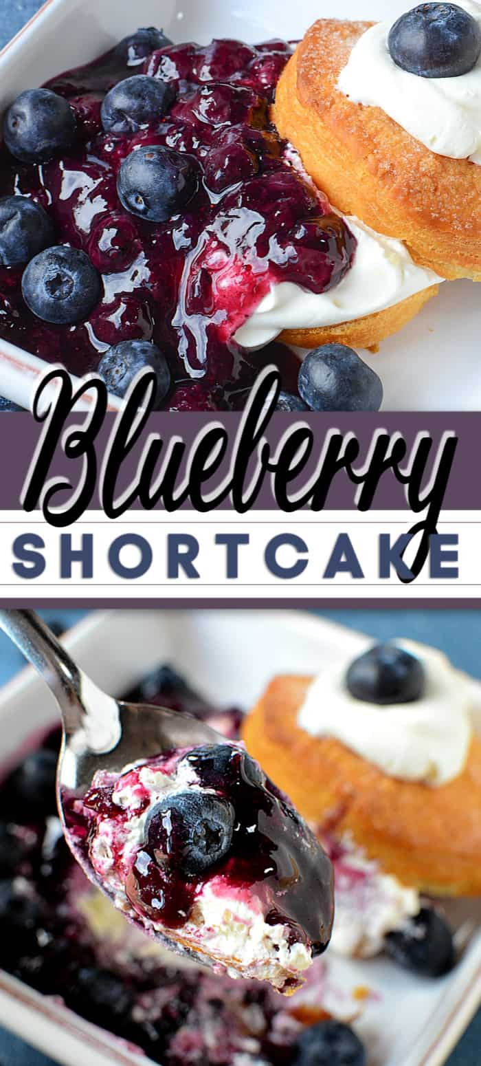 blueberry shortcake in bowls