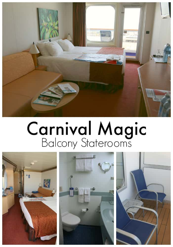 carnival magic balcony staterooms