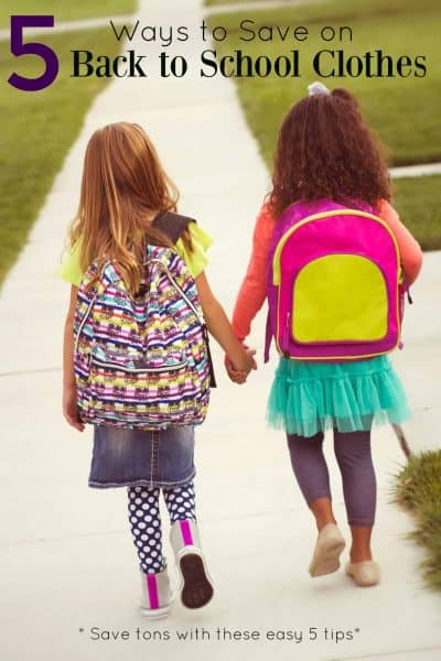 5 Ways to Save on Back to School Clothes
