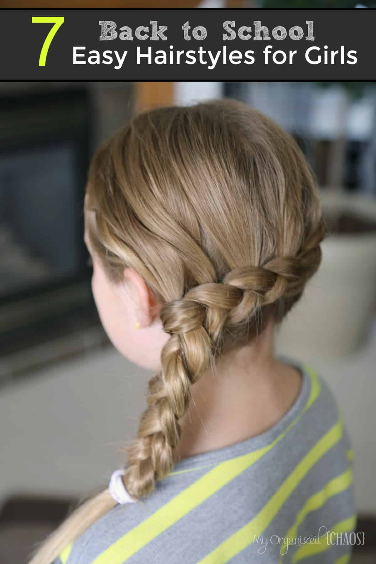 Back School Easy Hairstyles Girls