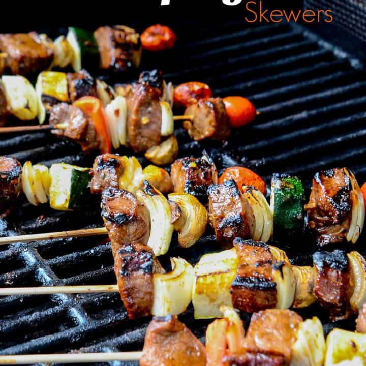 Spicy beef, a load of fresh vegetable and seasonings to perfect make this Spicy Beef Skewers recipe fantastic!