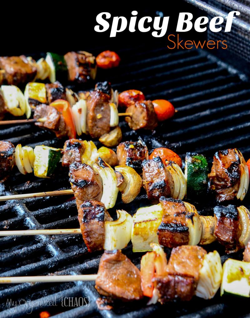Delicious Spicy Beef Skewers