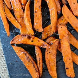 Spicy Maple Sweet Potato Wedges