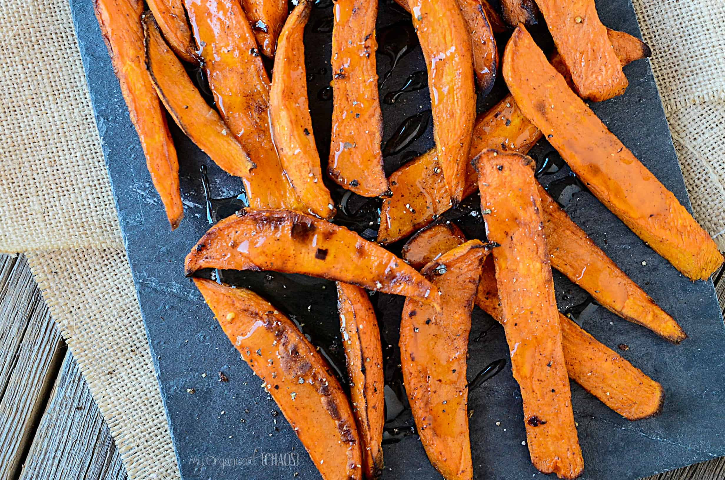 Spicy maple Sweet Potato Wedges side dish meal