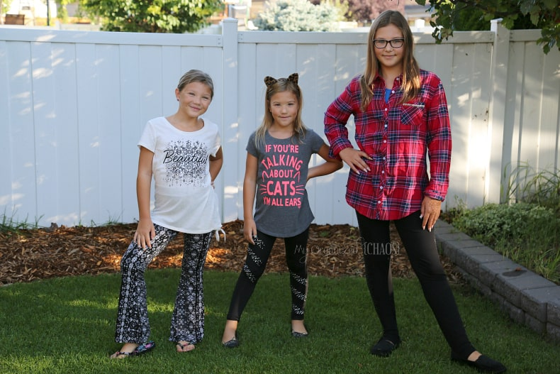 justice back to school clothing girls