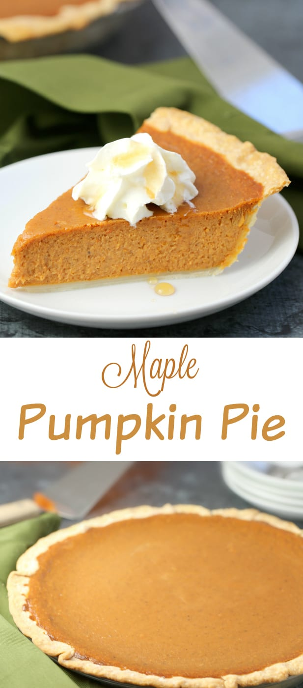 Maple Pumpkin Pie recipe, a Canadian adaptation on carnation's Classic Pumpkin Pie recipe. The combination of the two really does bring it over the top! #pumpkinpie #pumpkin #pumpkinrecipe