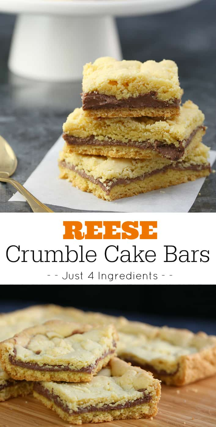 REESE Crumble Cake Bars Recipe