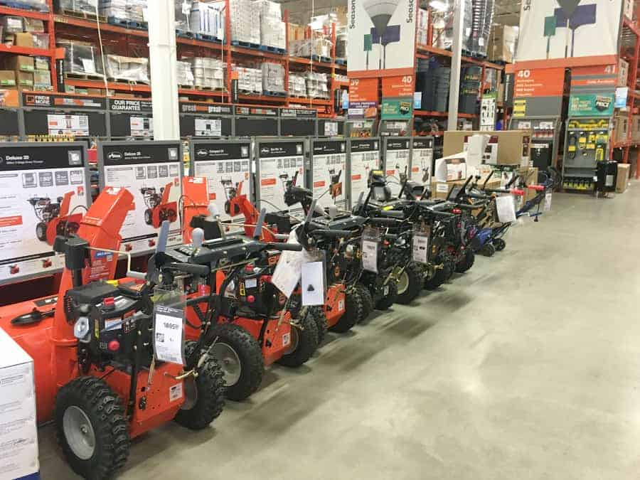be prepared for winter snow blowers home depot RBC partnership rewards saving money