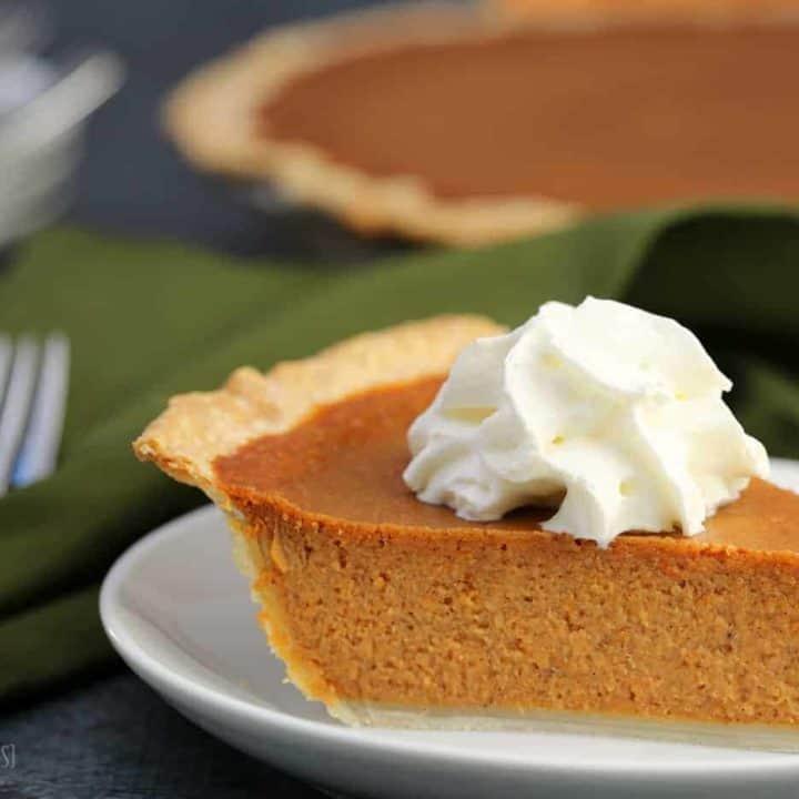 Maple Pumpkin Pie recipe, a Canadian adaptation on a Classic Pumpkin Pie recipe