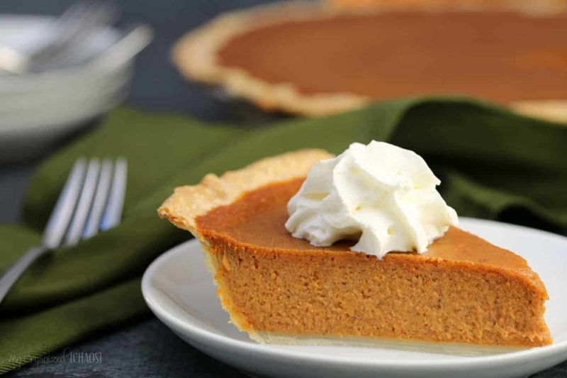 classic pumpkin pie with maple