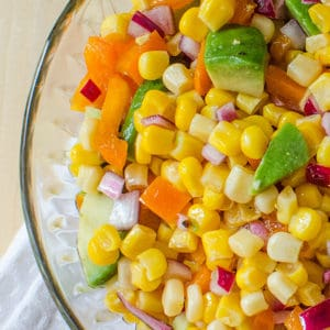 Easy Corn and Avocado Salad