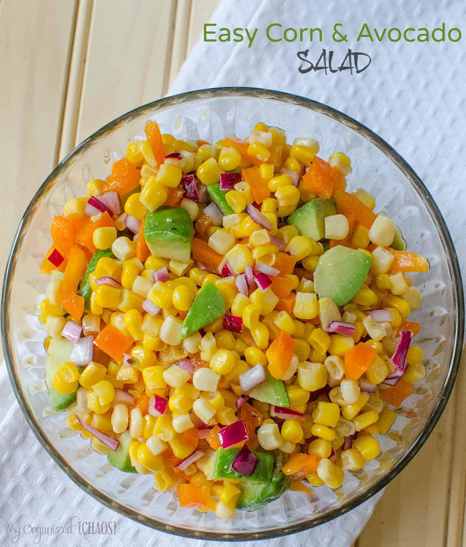 Easy Corn and Avocado Salad