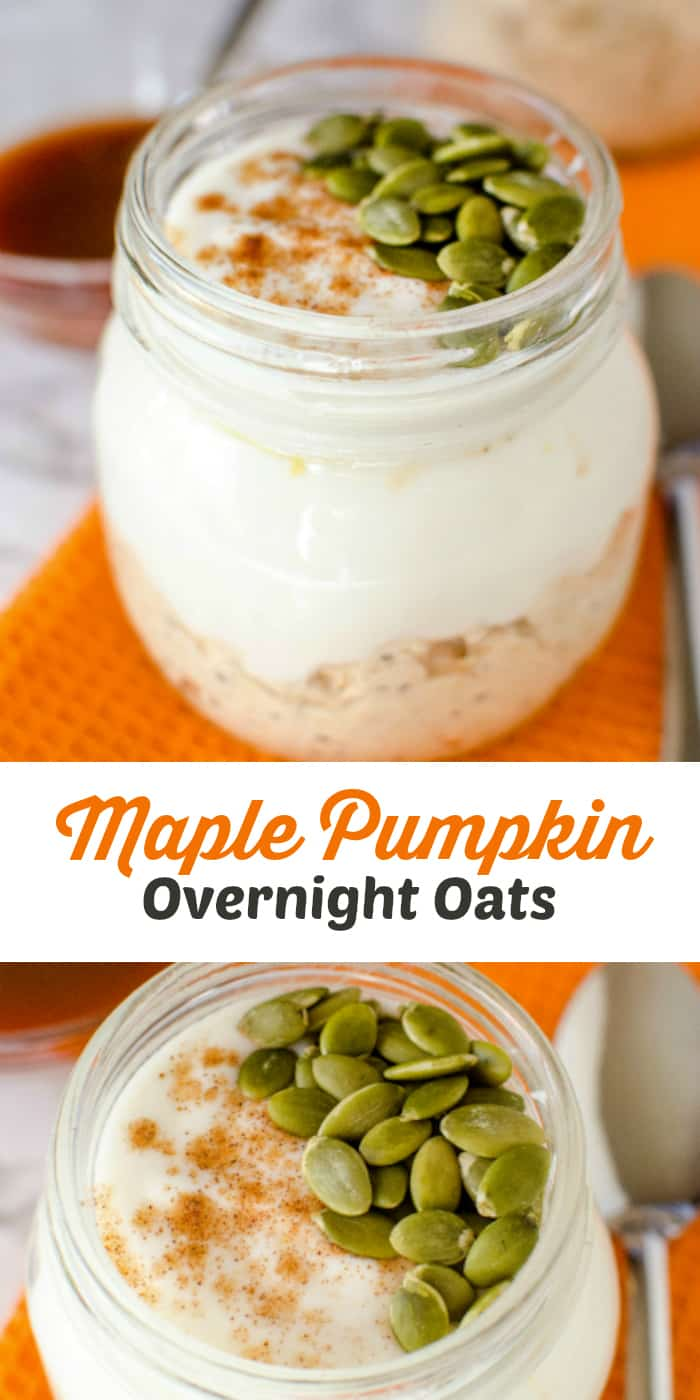 Maple Pumpkin Overnight Oats Recipe