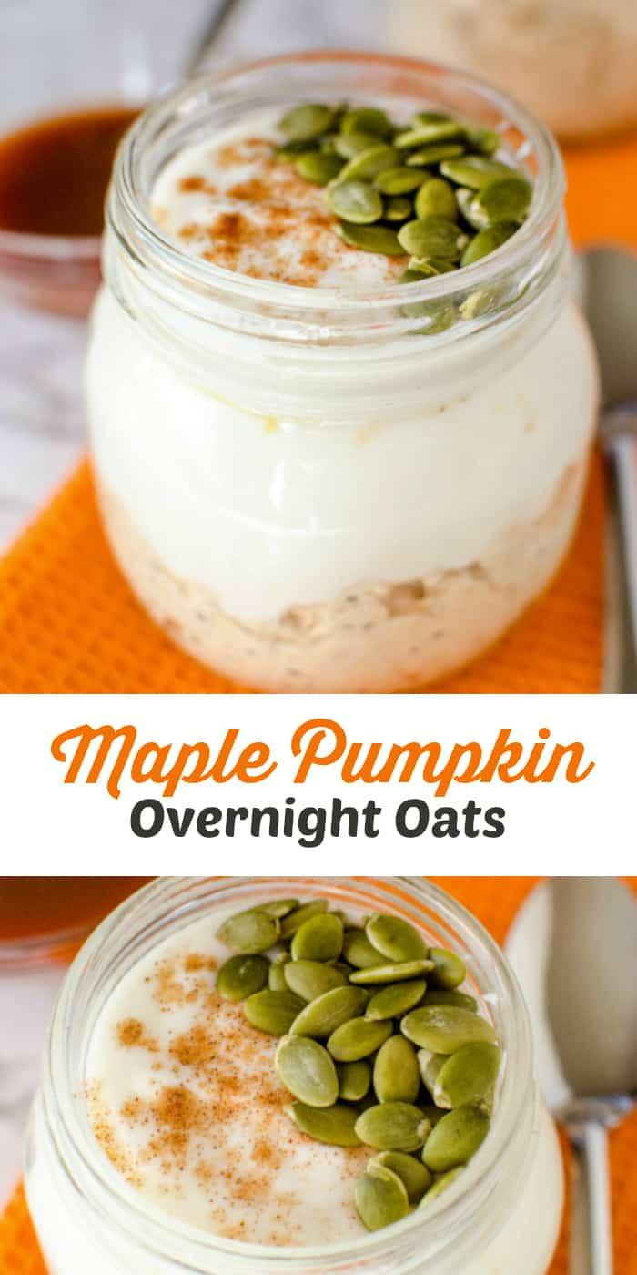 Maple Pumpkin Overnight Oats Recipe