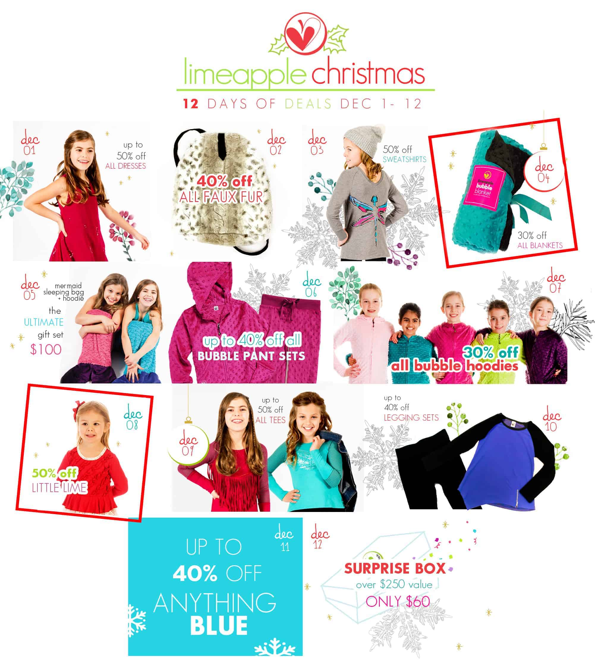Limeapple 12 Days of Christmas Sale
