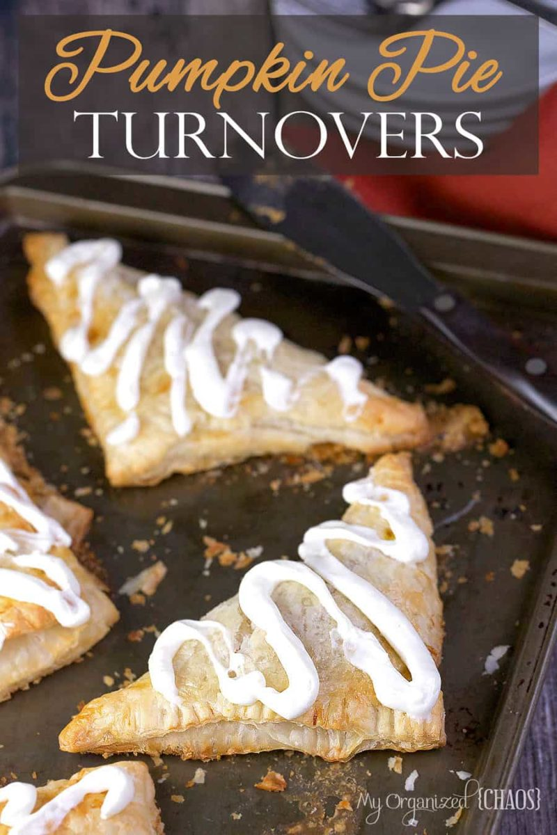 pumpkin pie turnovers cream cheese icing recipe