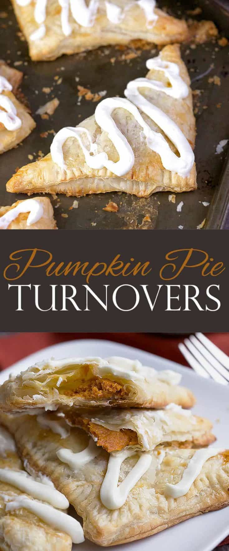 Pumpkin Pie Turnovers with cream cheese frosting is a simple classic dessert recipe which takes few ingredients and little time. #pumpkinpie #pumpkinrecipes #pumpkindessert