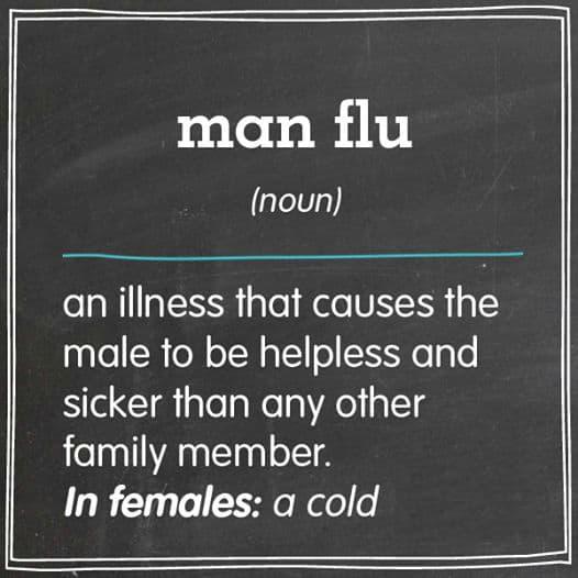 man flu men verses females
