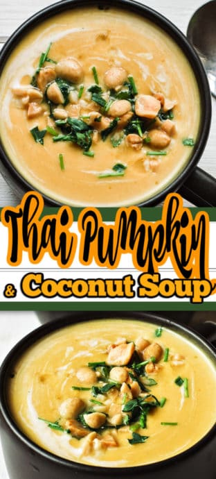 pumpkin soup with text