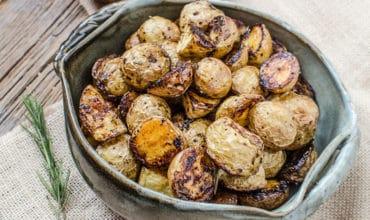Crispy Oven Rosemary Balsamic Potatoes