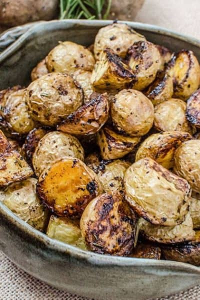 Crispy Oven Rosemary Balsamic Potatoes
