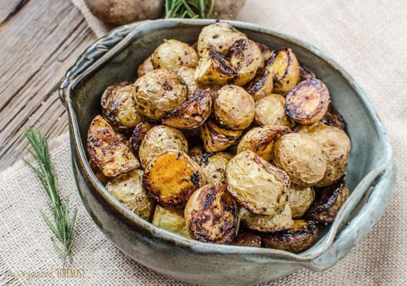Crispy Oven Potatoes in a bowl