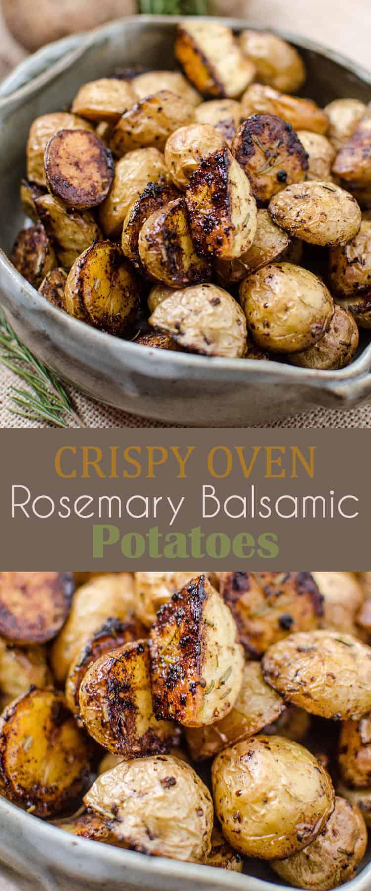 Crispy Oven Rosemary Balsamic Potatoes Recipe
