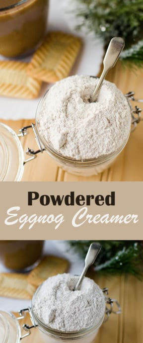 Powdered Eggnog Creamer - takes few ingredients and is really easy to make - you can have your own DIY coffee creamer in no time!