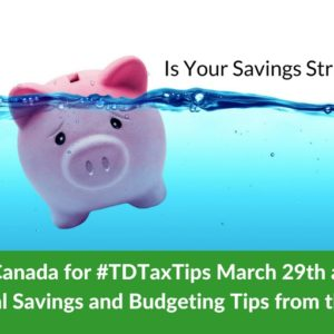 Come to the #TDTaxTips Twitter Chat on March 29th #ad