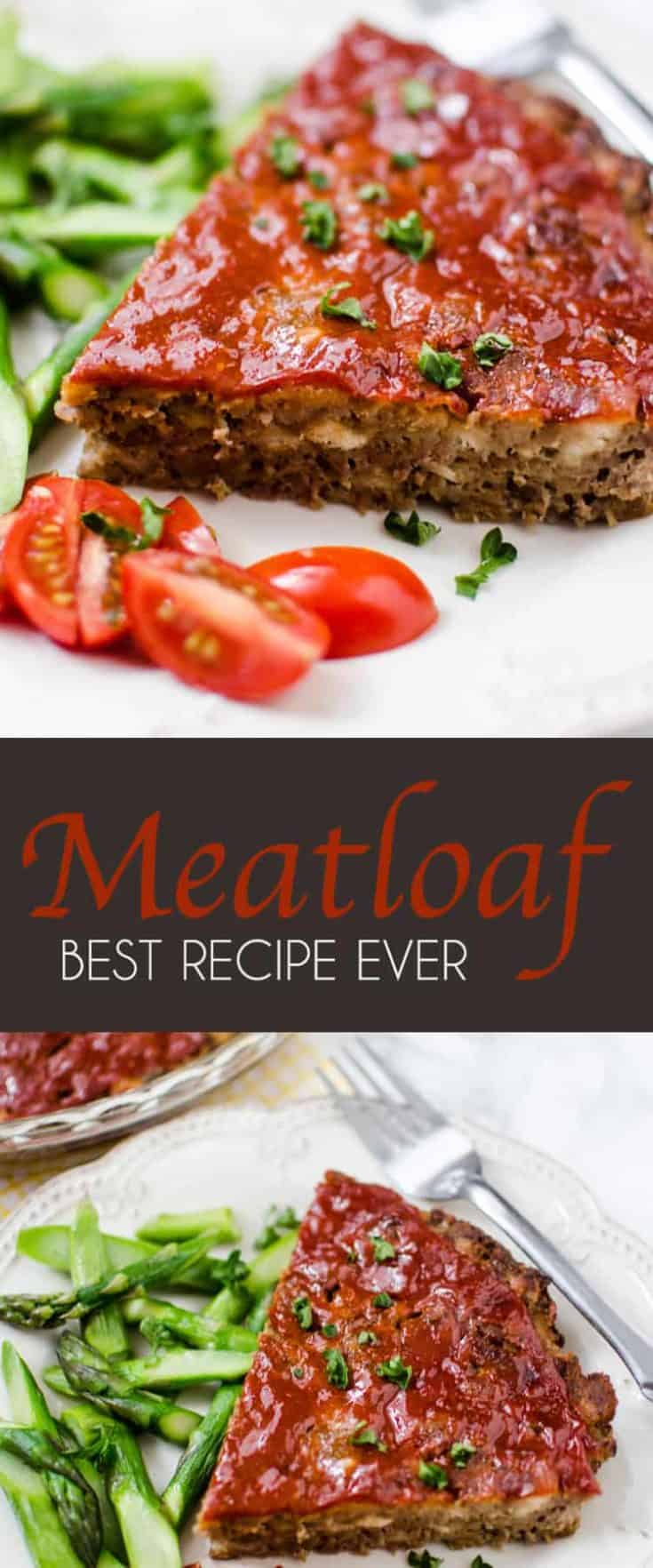 This BEST MEATLOAF RECIPE EVER was an immediate 'I must have this recipe!' moment, and I've been making it regularly ever since - for years in fact. Simple and outstanding in taste! #meatloaf #meatloafrecipe #bestmeatloaf #dinner