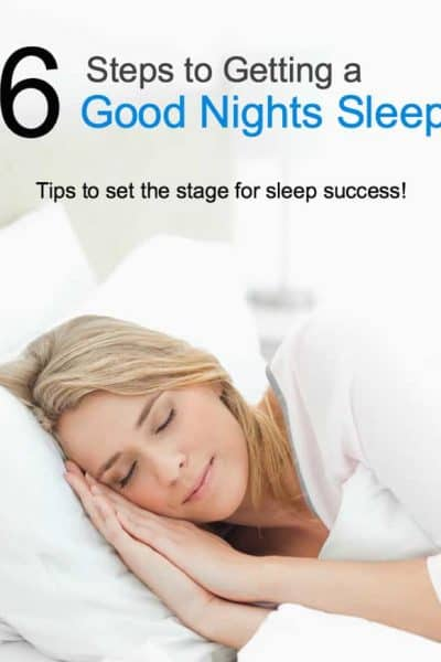 6 Steps to Getting a Good Night's Sleep